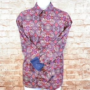 John Lennon by English Laundry Paisley Woven Shirt